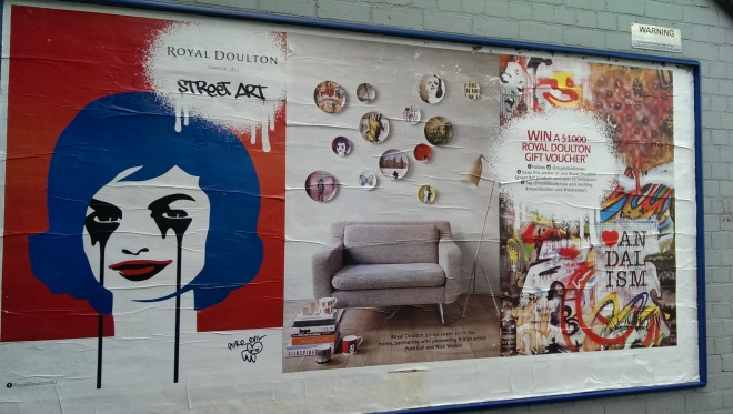 Royal Doulton puts these posters up in dodgy laneways near my house.
