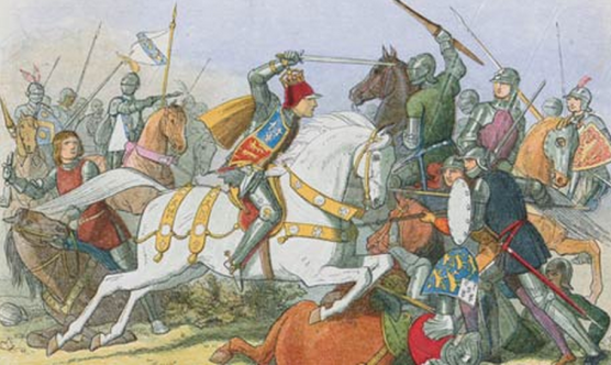Richard iii shortly before his reign ended, at the Battle of Bosworth