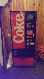 This antique vending machine from the foyer of our accommodation was indicative.
